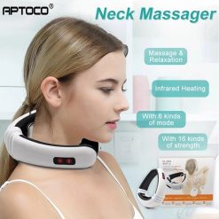 Electric Pulse Back and Neck Massager with Infrared Heating