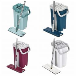 Cleaning Flat Squeeze Mop and Bucket