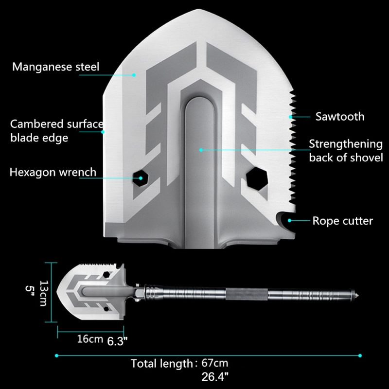 Universal folding shovel